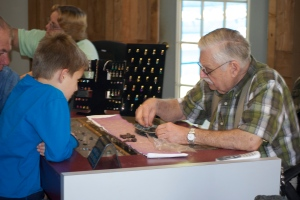 Me and the Gem Expert at Cherokee Gem Mine.  I Panned for Rubies and Sapphires.