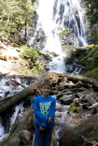 At Mingo Falls near Cherokee, NC