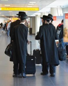 Hasidic Jew Rabbinical Students at JFK