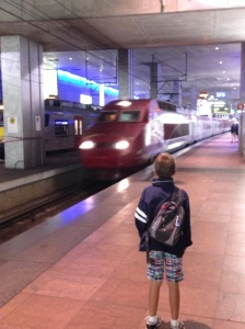 The Thalys to Paris arrives in Antwerp