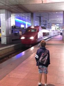 The Thalys to Paris arrives in Antwerp