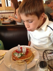 Birthday pancake lunch at Cafe St. Regis