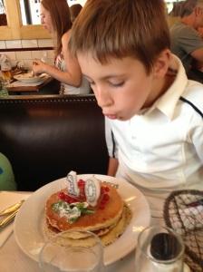 Birthday pancake lunch at Cafe St. Regis