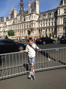 In front of the Hotel de Ville
