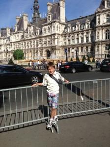 In front of the Hotel de Ville