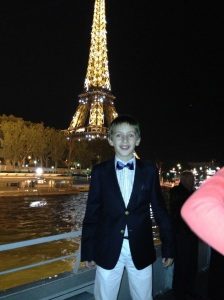 Aboard the Bateaux Mouche with Eiffel Tower in the Background