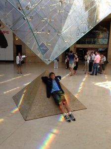 Under the inverse pyramid at the Louvre