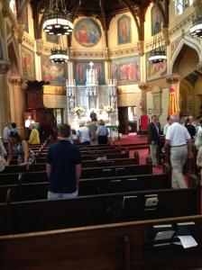 Inside the Church where I was Baptized.
