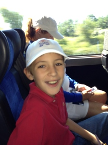 On the bus to The Walker Cup