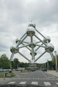 The Atomium structure from the 1958 Brussels World Fair.