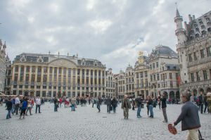 The Grand Place in all its baroque glory.
