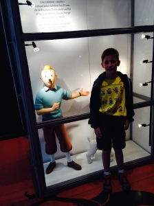 Me Tintin at the Tintin Store down from the Grand Place