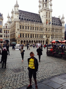 Me in the Grand Place/Grote Markt, the main square of Brussels.