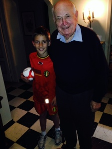 Me and my Papie in my Red Devils uniform.