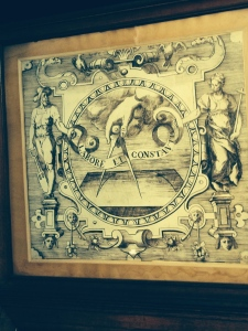 The Plantin Company logo:  Labore et Constancia or Work and Constancy.