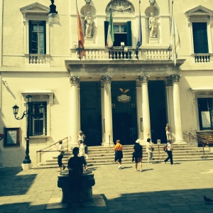 You can't see me but I am in the shadows in front of La Fanice Opera House. it was closed but there was a concert that evening at 8:00pm that could not get tickets for since it kicks off the Biennale of Venice.