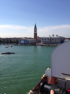 Arrividerci Venizia.  St. Mark's Campenile, the Square, start of the Riva and The Doge's Palace.  I will miss you.