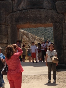 The Lion's Gate to the Acropolis of Corinth.