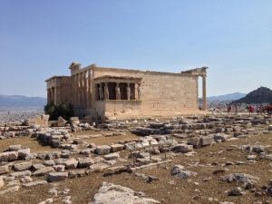This is a temple on the Acropolis that I have forgot the spelling.  It begins with an E and you can google to find it.