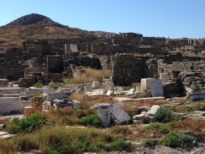 Some of the Ruins of Delos as we approach by boat.