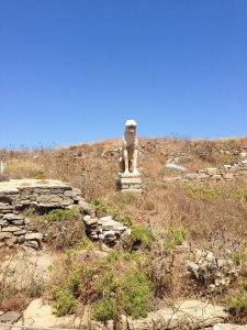 One of the many lions of Naxos dedicated to the people of Delos.