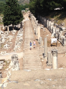 This was the road you took to go down to the harbor in Ephesus.