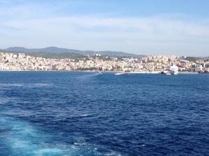 Coming into Rhodes harbor.