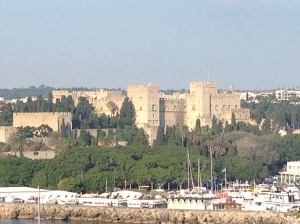 The castle of Rhodes in the Walled City