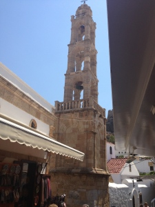 The Bell Tower of the main Greek Orthodox Church in Lindos.