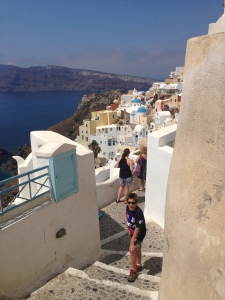 Oia is a very pretty village in the north on Santorini.  I loved the streets, steps, churches and old white washed buildings.