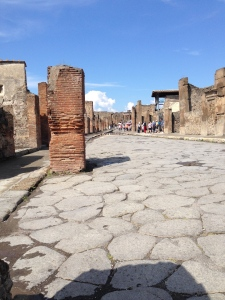 This was one of the main shopping streets in Pompei.