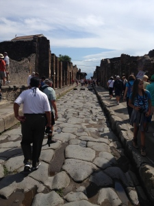 One of the main streets in Pompei
