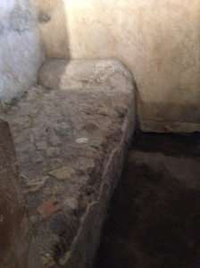 "In the ""love"" house in Pompei, the beds were not so comfortable."