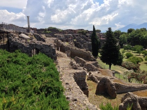 The north wall of Pompei as you walk out of the ruins.