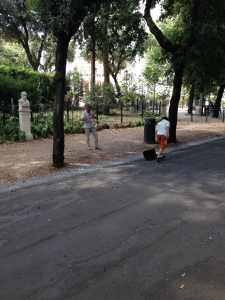 Here I am dropping off a tip to a guy playing the same song over and over again in a Soprano Saxophone in Borghese Park.