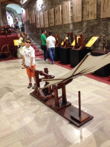 One of DaVinci's inventions that they have reproduced in the museum