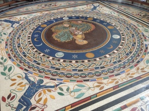 A beautiful floor fresco in one of the rooms on the way to the Sistine Chapel