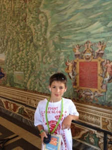 In the Hall of Maps at the Vatican Museum.
