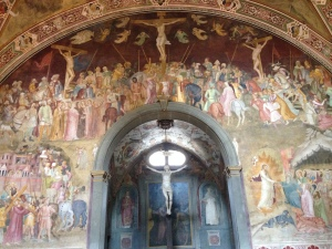 A beautiful fresco of the crucifiction of Jesus.