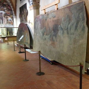"These are frescos that they cut down from the walls of the ""Green Cloister"" that they will now restore."