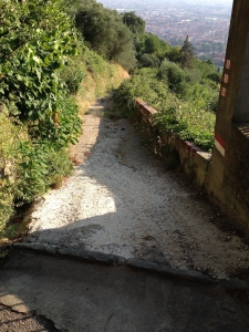 The path from Montecantini Terme to Montecantini Alto.