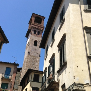 One of the many towers in Lucca.