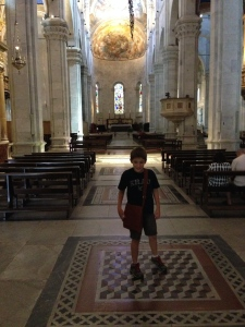 Inside the Duomo of Lucca.