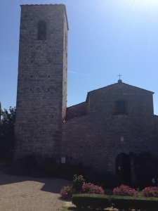 This is the church connected to our hotel in Castello di Salptenna in Gaiole in Chianti.  There was a wedding there the day we checked in.