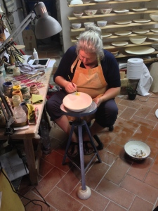 In Gaiole there was a ceramic shop where they hand make any design you want.