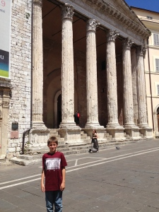 After our visit to the Basilica of San Francesco we came back to the square to visit the Temple of Minerva