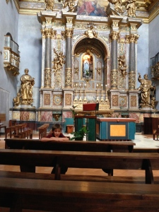The beautiful altar of Santa Maria sopra Minvera dedcicated to the famous Dominican Philip Nehri.