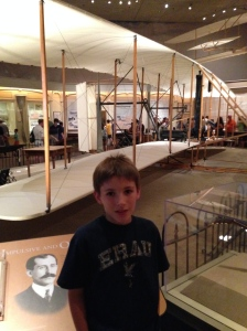 This is the Wright Brothers glider that flew at Ktty Hawk in 1902.